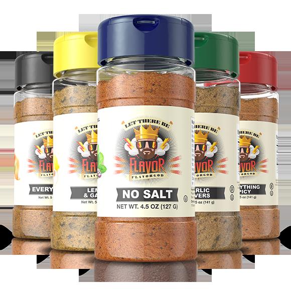 FlavorGod 5 Bottle - Classic Combo Pack + No Salt
