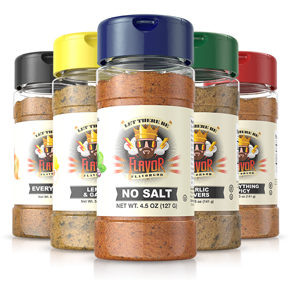 FlavorGod 5 Bottle - Classic Combo Pack + No Salt