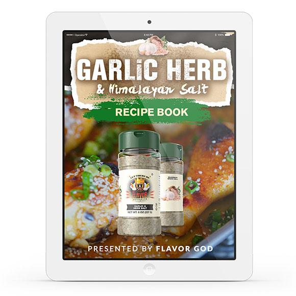 Garlic Herb & Himalayan Salt Seasoning Recipe Book