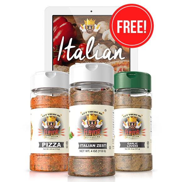 Italian Combo Pack (Italian, Pizza, Garlic)